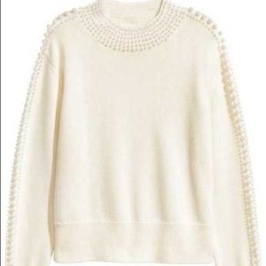 H&M Pearl Embellished Sweater